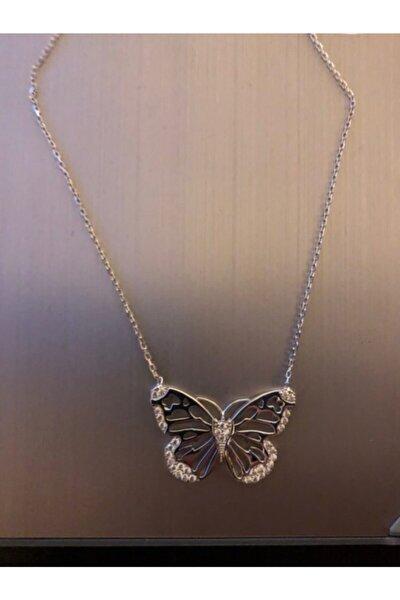 925 Ayar Gümüş Kelebek Model Kolye