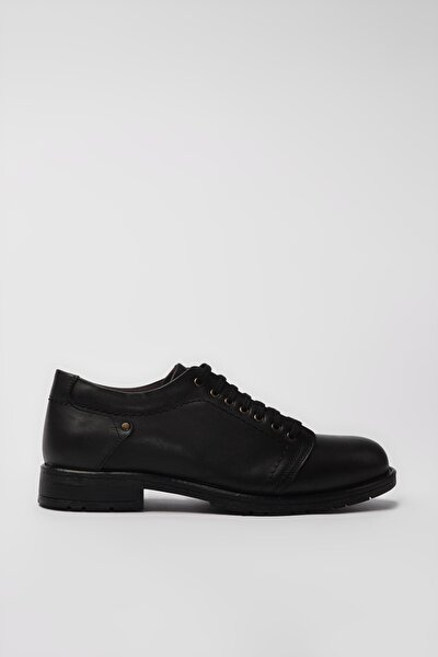 Hakiki Deri Siyah Erkek Casual Ayakkabı 02AYY194960A100