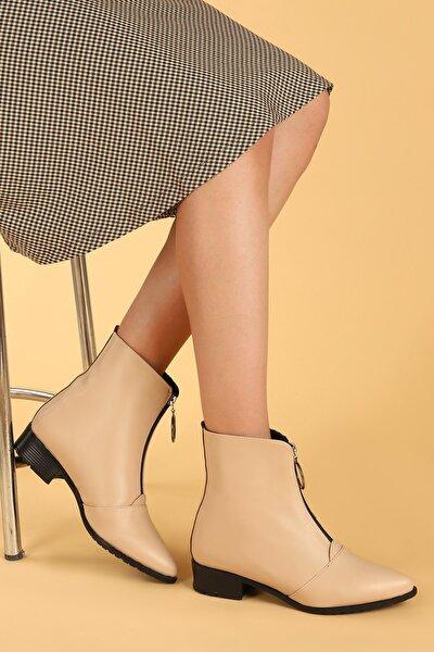 007-02 Cilt Fermuarlı Termo Taban Bayan Bot Ayakkabı
