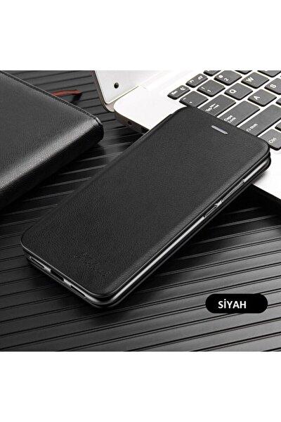 Samsung Galaxy S7 Edge Mıknatıslı Cüzdan, Kapaklı Lüx Kılıf, Siyah