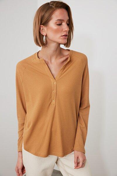 Camel Örme Bluz TWOAW21BZ0894