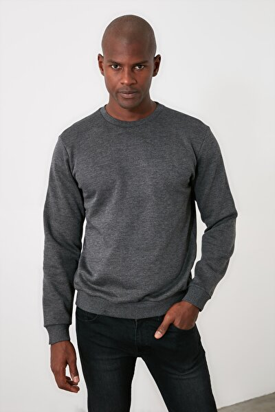 Antrasit Erkek Regular Fit Sweatshirt TMNAW21SW1662