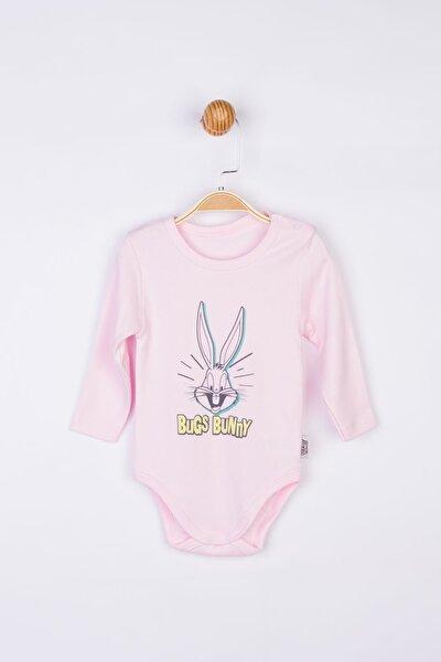 Kız Erkek Bebek Pembe Bugs Bunny Bebek Body 17212