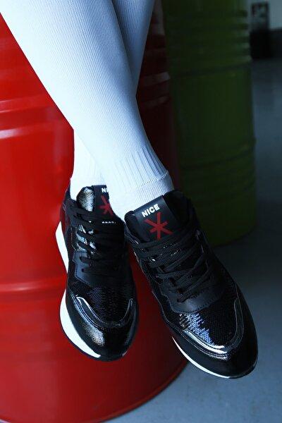 Kadın Siyah Sneaker Ayakkabı