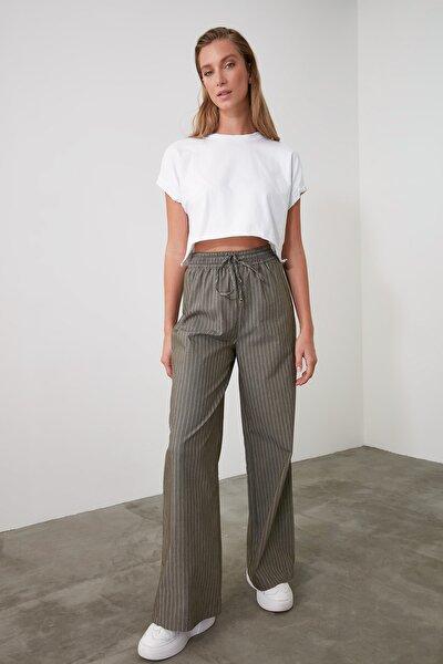 Antrasit Bağlama Detaylı Pantolon TWOAW21PL0072