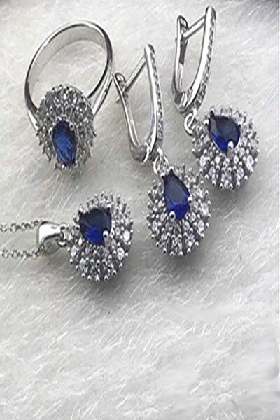 Mitos 925 Ayar Gümüş Mavi Set