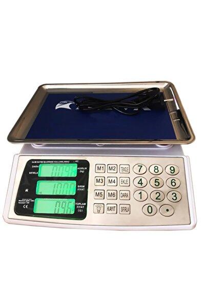 822c T Çelik Tuşlu Dijital Çift Ekranlı Pilli Ve Akülü Terazi Max 40 Kg 2 gr Hassasiyetli Tartı