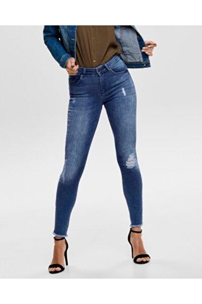 Kadın Mavi Yırtık Detay Jean 63562