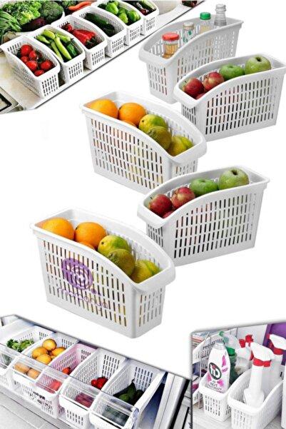 Buzdolabı Sepeti 5 Adet Dolap Içi Düzenleyici Sepet Raf Mutfak Organizer