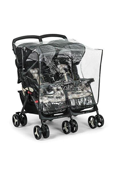 Ikiz Bebek Arabası Yağmurluğu (yan Yana) Mj227-1