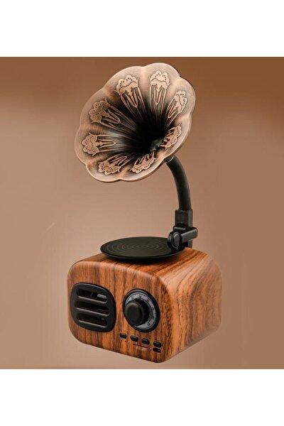 Retro Mini Gramofon Bluetooth Fm Radyo Hoparlör Ft-05