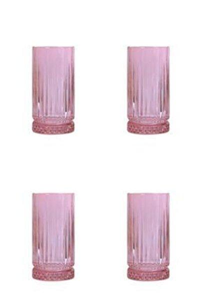 Elysıa 4 'lü Pembe Meşrubat Bardağı 450cc
