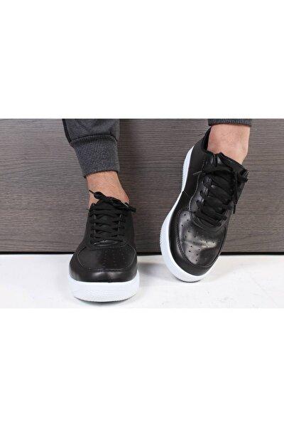 Unisex Siyah Bağcıklı Spor Ayakkabı