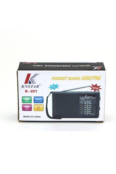 Cep Tipi Taşınabilir Am / Fm Radyo K-257 Pilli