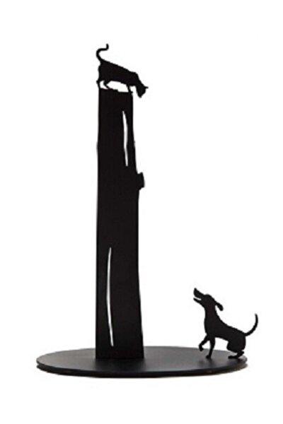 Kedi Köpek Figürlü Dekoratif Metal Kağıt Havluluk, Havlu Tutucu, Havlu Askısı
