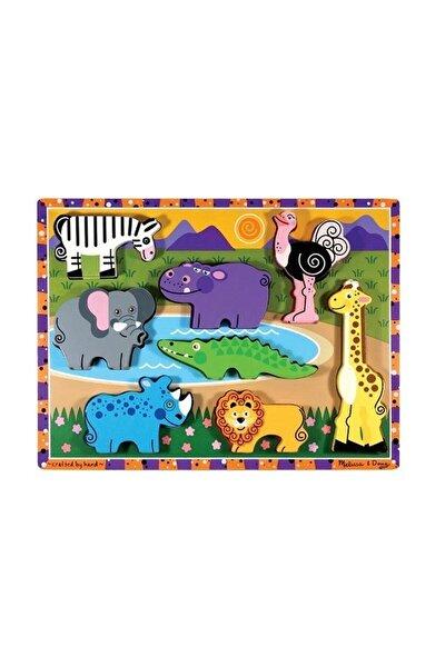 Safari Ahşap Tombul Yapboz (8 Parça)