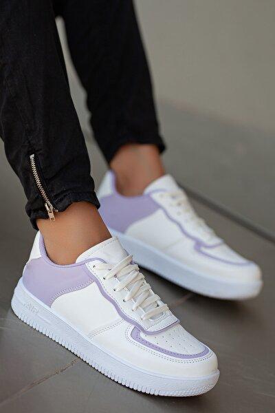 Kadın Lila Beyaz Sneaker