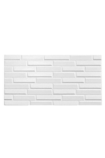 Kendinden Yapışkanlı Beyaz Opak Duvar Paneli 70x38 cm
