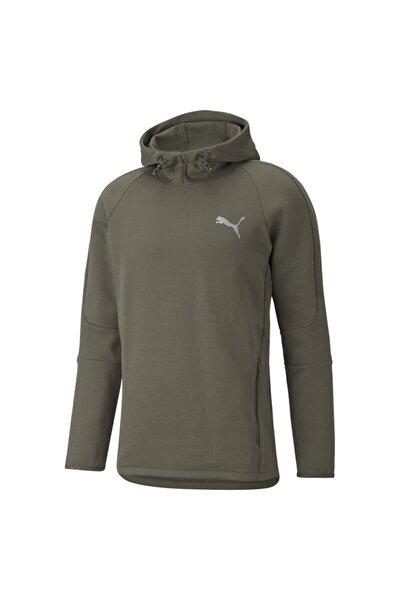 Evostrıpe Hoodie Erkek Yeşil Sweatshirt - 58942244