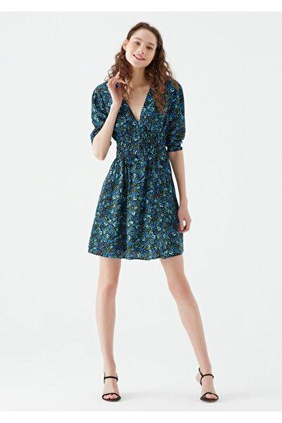 Çiçek Baskılı Mini Elbise 131133-35271