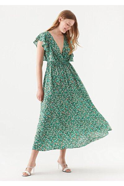 Baskılı Yeşil Elbise 131071-33919