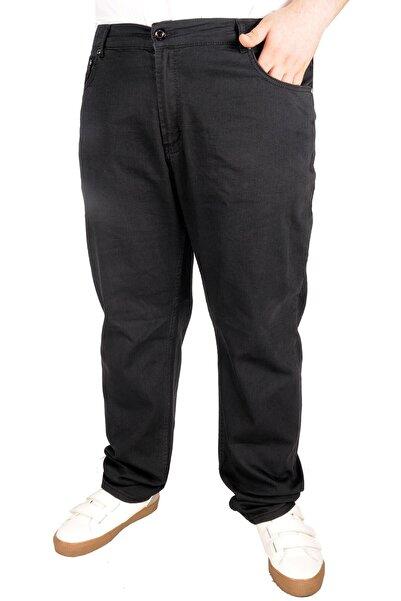 Büyük Beden Erkek Pantolon Kot 5cep Thin Focus 21921 Siyah