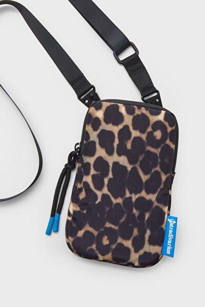 Kumaş Çapraz Askılı Cep Telefonu Çantası