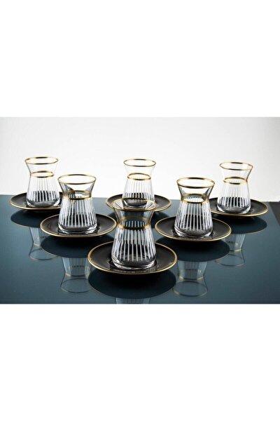 Lazer Yapımı 12 Parça 6 Kişilik Çay Seti