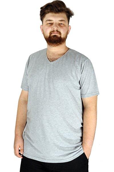 Büyük Beden Tshirt V Yaka 20032 Grimelanj