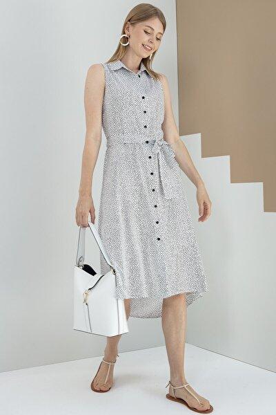 Elbise-polo Yaka, Ön Tam Boy Düğme Detaylı, Ön-arka Geçişli