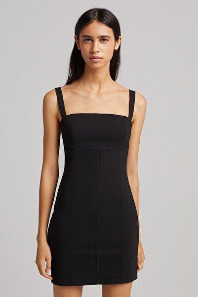 Kalın Askılı Mini Elbise