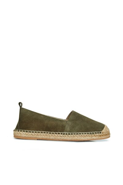Haki Hasır Tabanlı Ayakkabı