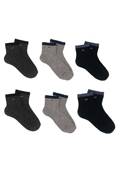 Çok Renkli 6 Lı Küçük Desen Detaylı Erkek Çocuk Çorabı