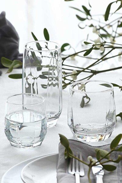 Diamond 36 Parça Bardak Seti - Su Bardağı Seti Takımı Nar 50