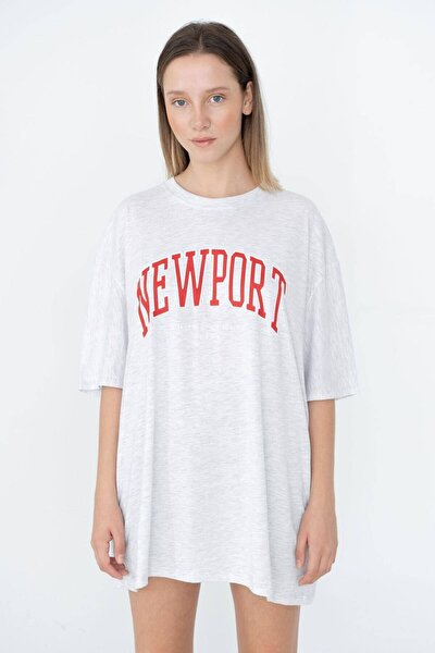 Baskılı Oversize T-shirt P9658 - B3