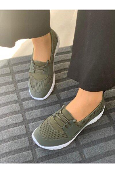 Kadın Haki Ortopedik Günlük Ayakkabı