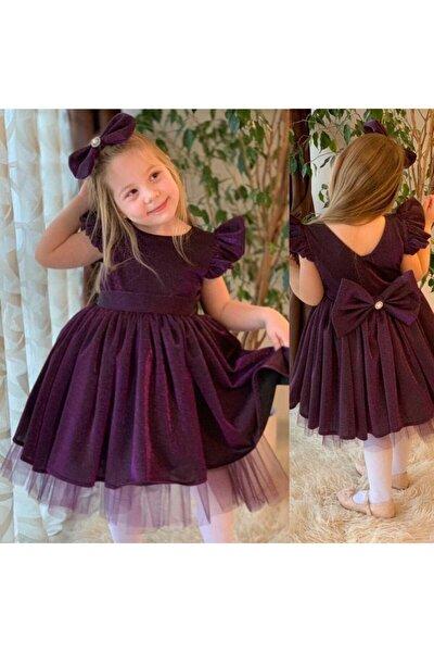 Kız Çocuk Simli Abiye Elbise