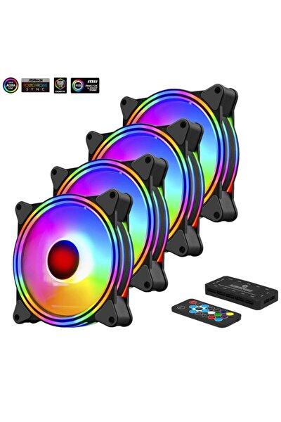 Fcl-f1272c 4in1 Kumandalı Dual Argb Fan Set 4lü Set Kit 4x120mm Sessiz Rgb Kasa Fanı