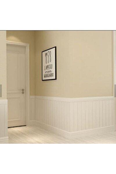 Beyaz Lambiri 3d Kendinden Yapışkanlı Duvar Kağıdı Duvar Paneli
