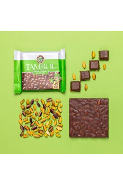 Tambol Bütün Fıstıklı Sütlü Çikolata 100g