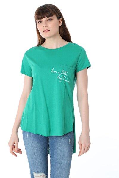 Baskılı T-shirt - Yeşil