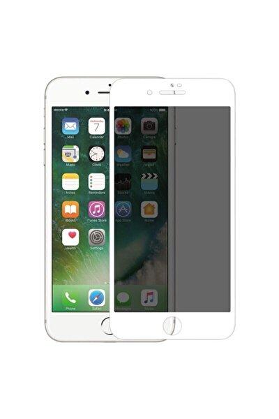 Iphone 7 Plus 8 Plus Hayalet Kırılmaz Cam Ekran Koruyucu Beyaz