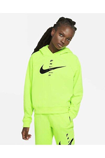 Kadın Kapüşonlu Üst Sportswear Swoosh