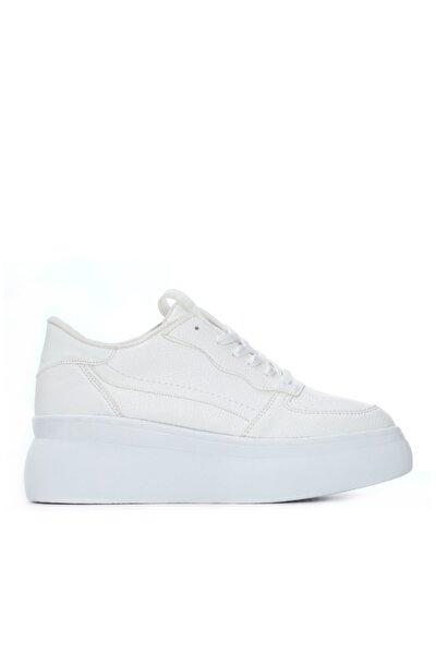 Kadın Beyaz Vegan Sneaker Ayakkabı