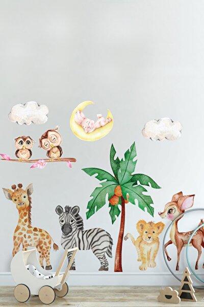 Sevimli Yavru Hayvanlar Oda Arkadaşları Çocuk Odası Duvar Sticker Seti