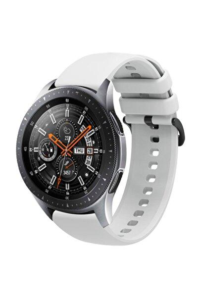 Galaxy Watch 46mm 22mm Kayış Termoplastik Perforated Kordon Gri