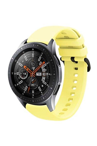 Galaxy Watch 46mm 22mm Kayış Termoplastik Perforated Kordon Sarı
