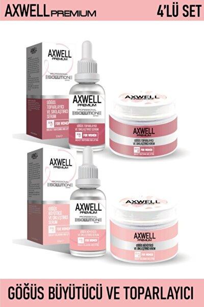 Axwell Premium 4'lü Göğüs Bakım Seti (göğüs Sıkılaştırıcı Ve Toparlayıcı& Büyütücü Ve Dikleştirici)