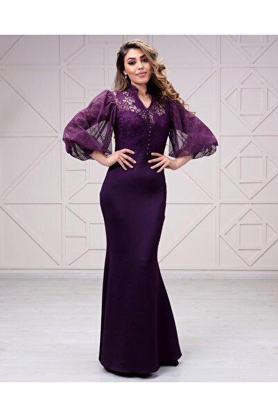 Kadın Üstü Likralı Dantel Altı Scuba Elbise