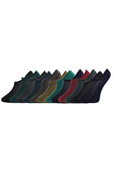 12 Çift Kadın Sneaker Görünmez Patik Çorap